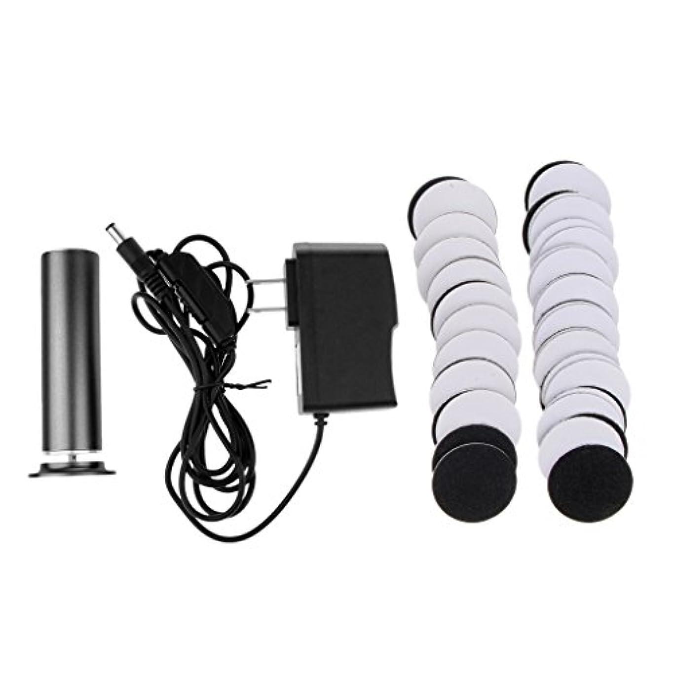 操縦する時組み合わせKesoto カルスリムーバー 電気リムーバー ペディキュア 交換用 サンドペーパーディスク 2色選べ - ブラック