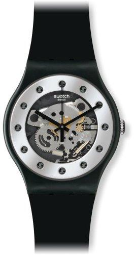 [スウォッチ]SWATCH 腕時計 NEW GENT LACQUERED(ニュージェント ラッカード) SILVER GLAM(シルバー・グラム) SUOZ147  【正規輸入品】