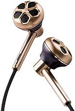 1MORE デュアルドライバー Hi-Res イヤホン ステレオ Hi-Fiサウンド 高音質 ハイレゾ音源対応 高遮音性 2017ビジュアルグランプリ(VGP) ノイズ遮断 カナル型 有線 リモコン・マイク付 カナル型 iPhone/iPad/iPod/Android Smartphoneなどに対応 E1008 ゴールド