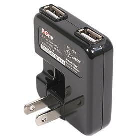 プロテック USB充電器 2ポート PD-2BK