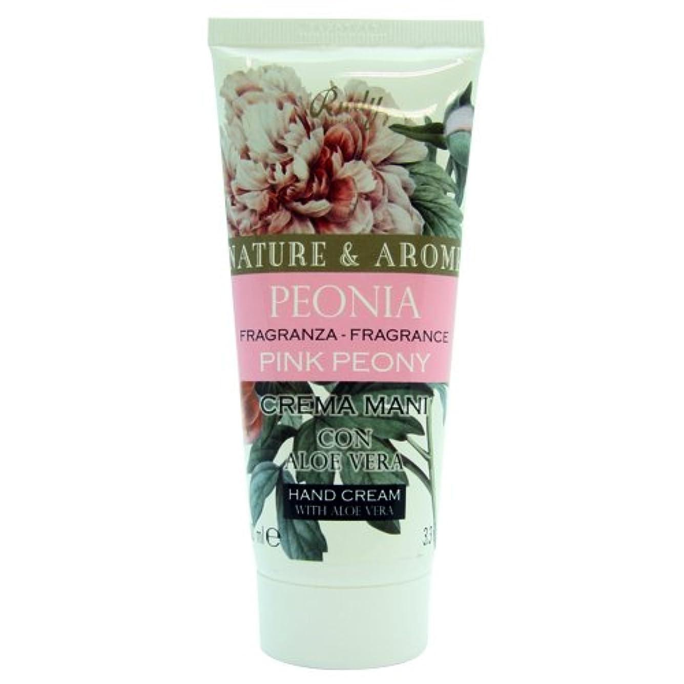 ラベポスターおもちゃRUDY Nature&Arome SERIES ルディ ナチュール&アロマ Hand Cream ハンドクリーム  ピンクピオニー
