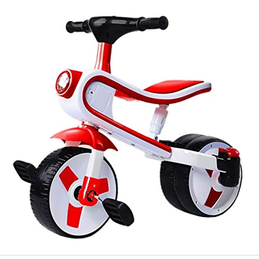 道路センタータイマー自転車子供三輪車自転車3-4-5-6歳男女自転車キッズベビー足首カーベビーバランス自転車(色:赤、サイズ:70x57x40cm)