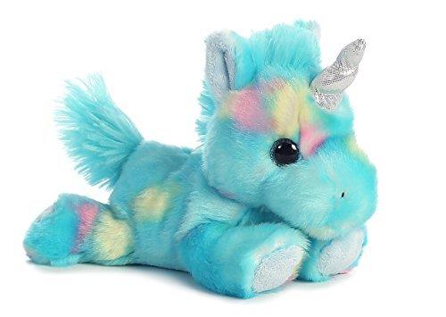 Blueberry Ripple Unicorn Bright Fancies 7 Stuffed Animal by Aurora Plush 16701 [並行輸入品]