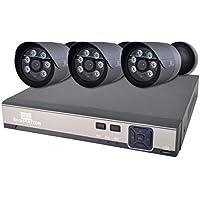 SecuSTATION 黒 防犯カメラ 3台セット PoE 日本メーカー 264万画素 防水防塵 マイク内蔵 2TB内蔵 SC-XP45K