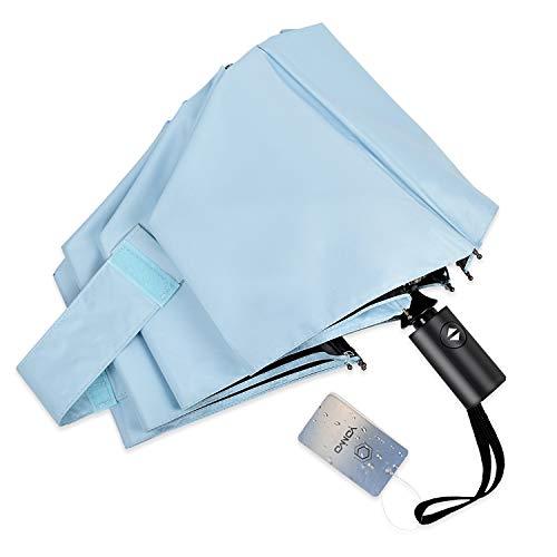 YONiMO 日傘 折りたたみ傘 自動開閉 UVカット 100%遮光 遮熱 8本骨 耐風 撥水 雨傘 日焼け防止 紫外線対策 シンプル 男女兼用 持ち運び便利 晴雨兼用 折り畳み傘 (ブルー)