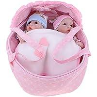 D DOLITY 人形 リボーン ベビードール 赤ちゃん 女の子 シリコーン バスケット キルト おもちゃ 28cm