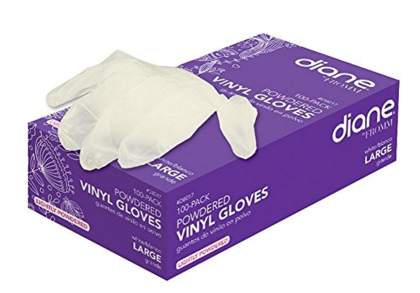 びっくり方向橋脚Diane D8015ビニール粉末手袋で - 小さい