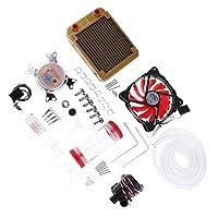 KESOTO CPU水冷キット 120mmラジエーターポンプ CPUブロックチューブ DIY コンピュータ 水冷システム