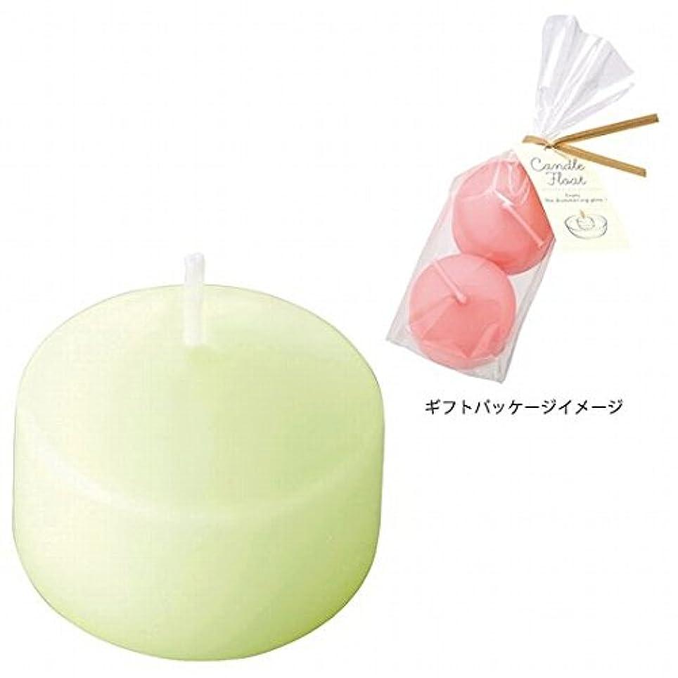 短命夫文法カメヤマキャンドル(kameyama candle) ハッピープール(2個入り) キャンドル 「ホワイトグリーン」