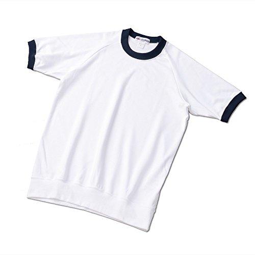 (ギャレックス) GALAX 体操服 クルーネック 3L 白×濃紺