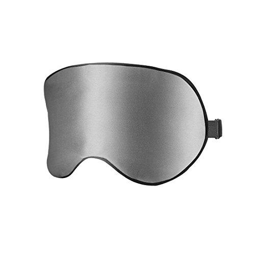 Werocker アイマスク 睡眠 安眠 快眠グッズ 軽量 天然シルク 圧迫感なし 遮光性・通気性抜群 旅行・出張に最適 収納袋付き(フリーサイズ)