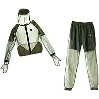 ノーブランド品 夏用 抗蚊服 釣りスーツ 抗蜂 蚊を防ぐ スーツ 速乾性 服  グリーン 4サイズ選べる - 3XL