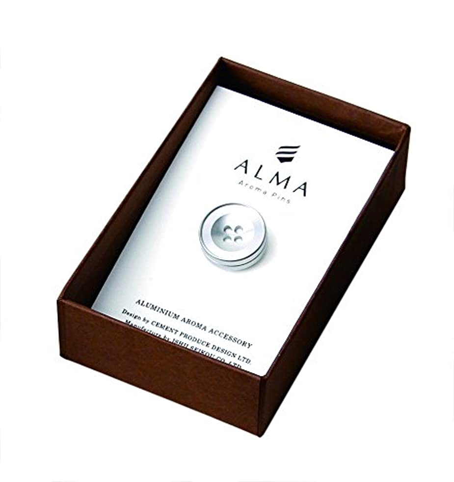 ねじれ提案昼寝セメントプロデュースデザイン ALMA Aroma Pins シルバー 1.7×1.9×1.7cm ピンバッジ AM-01sv