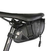 自転車サドルバッグ、後部座席ナイロン防水自転車リアバッグ、サイクリングテールポーチパッケージ自転車アクセサリー、ブラック,M