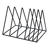 Newspaper Rack Modern Newspaper Triangle Bookshelf Bookshelf Files Folder Stand Desktop Organizer for Home Office