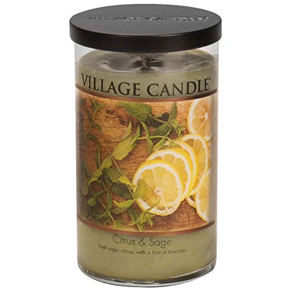 中間機会軽減するVillage Candle Citrus & Sage 24 Oz LargeタンブラーScented Candle