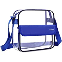 Gonex Clear Crossbody Messenger Bag, NFL Stadium Approved Transparent Shoulder