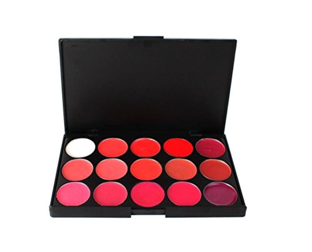MakeupAcc15色リップパレット ばら色/オレンジ系/ダークレッド/ワイルドローズ/ディープチェリー メイクカラー コスメ [並行輸入品]
