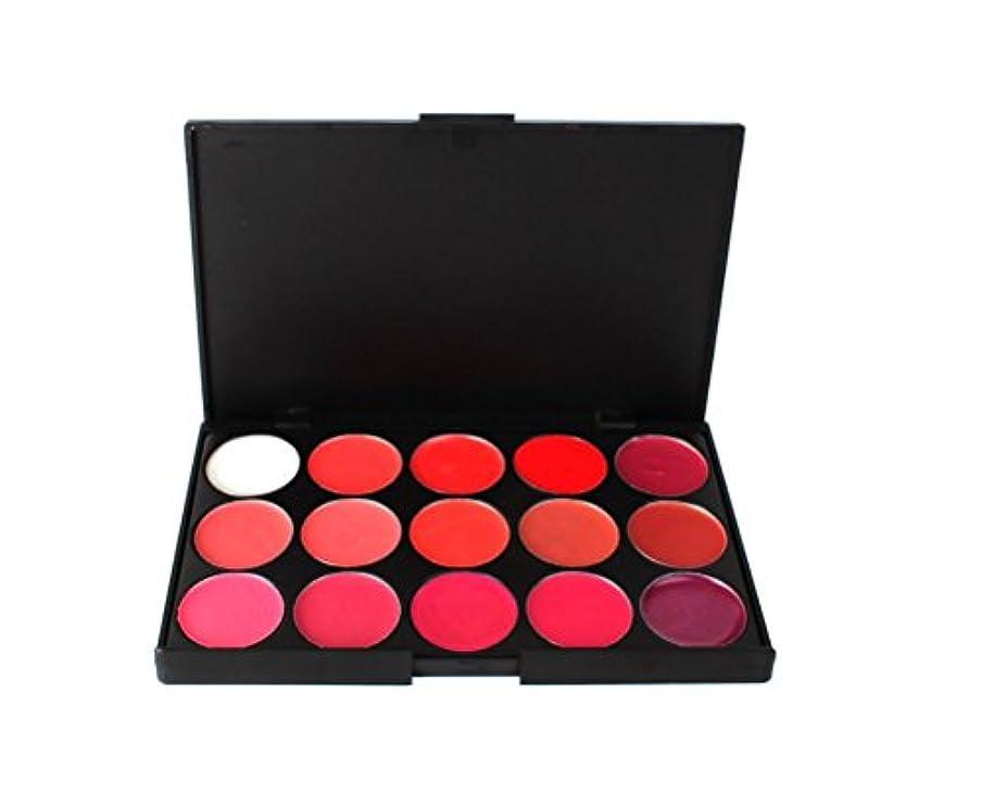 頻繁に顕現微生物MakeupAcc15色リップパレット ばら色/オレンジ系/ダークレッド/ワイルドローズ/ディープチェリー メイクカラー コスメ [並行輸入品]