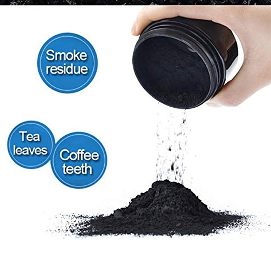 焦げ息切れ左Daily Use Teeth Whitening Scaling Powder Oral Hygiene Cleaning Packing Premium Activated Bamboo Charcoal Powder...