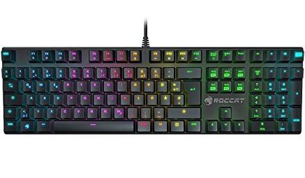 ROCCAT Suora FX, RGB Illuminated Frameless Mechanical Gaming Keyboard,  US Layout(正規保証品)(青軸)