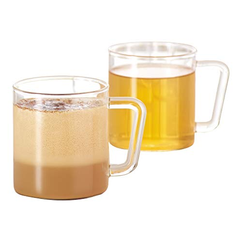 Borosil VCLM305 Vision Classic Large Mug (Set of 4), 10 oz (305ml), Glass by Borosil