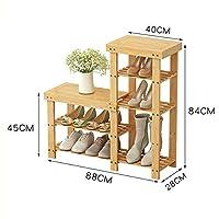 DD シューズホルダー シューズベンチ、ソリッドウッドシューズ/シューズラック、スツール収納スツールシューズ、ベンチ/ソファベンチの交換 木製ラック (サイズ さいず : 88X84cm)
