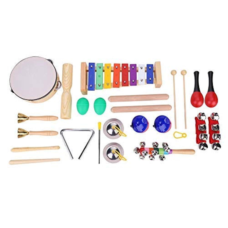 TOPINCN 楽器おもちゃ 赤ちゃん 子供用 12個 打楽器セット パーカッションセット 楽器 おもちゃ 音楽おもちゃ 知育玩具 楽器 子供 おもちゃ 誕生日 クリスマス プレゼント 素晴らしい楽器 実用的
