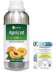 Apricot (Prunus armeniaca) Natural Pure Undiluted Uncut Carrier Oil 1000ml/33.8 fl.oz.