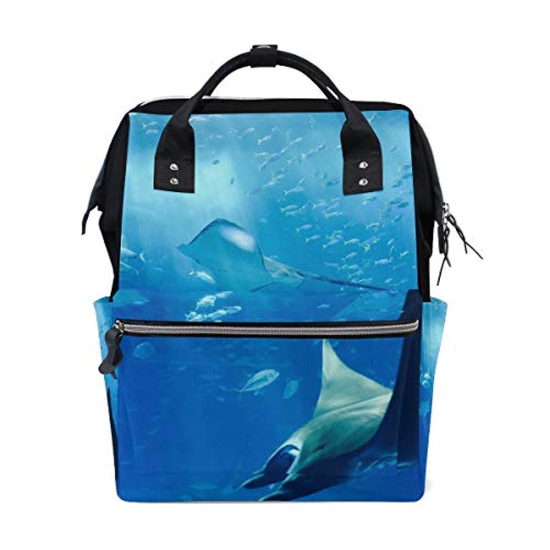 ANNSIN マザーズバッグ ママバッグ リュック バックパック ハンドバッグ 3WAY 多機能 防水 大容量 軽量 シンプル おしゃれ ベビー用品収納 出産準備 旅行 お出産祝い 動物 魚 海