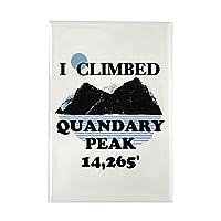 "CafePress–I Climbed Quandaryピーク長方形マグネット–長方形マグネット、2"" x3""冷蔵庫マグネット"