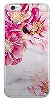 5種類のオシャレ愛らしくかわいいパステルカラーのヴィンテージでユニークで魅力的な幾何学的なモダンクラシックマーブル柄と鮮やかで美しい花柄のパターンシリコンラブリーアートデザインパターンiPhoneケース&Galaxyケースクリア透明TPUゼリースマートフォンケース.TR-3-22 -BXL (iPhone 6 / S6, 1.HOT PINK) [並行輸入品]