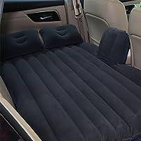 車の空気のベッド、車の旅行の膨張のマットレスモーターポンプと2つの枕、SUV、MPV、車とトラックのためのSUV後部座席クッション。ホーム、車、屋外キャンプユニバーサル、80 * 142センチメートル,Black