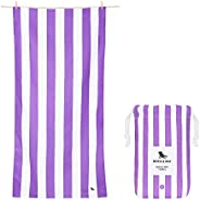 Quick Drying Towel Travel Backpacking Gear - Brighton Purple, Large (160x80cm, 63x31) - Compact Beach Towel, s
