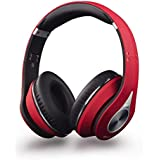 August Bluetooth Headphones - EP640 - Over Ear Wireless Headset with aptX and NFC - Red