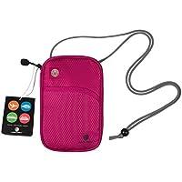 (バッグスマート) BAGSMART パスポートケース スキミング予防対策 海外旅行グッズ セキュリティ 貴重品入れ ネックポーチ IDカードケース 防犯用品 iPhone 6S Plus収納可 14ポケット搭載 バレンタイン プレゼント ギフト