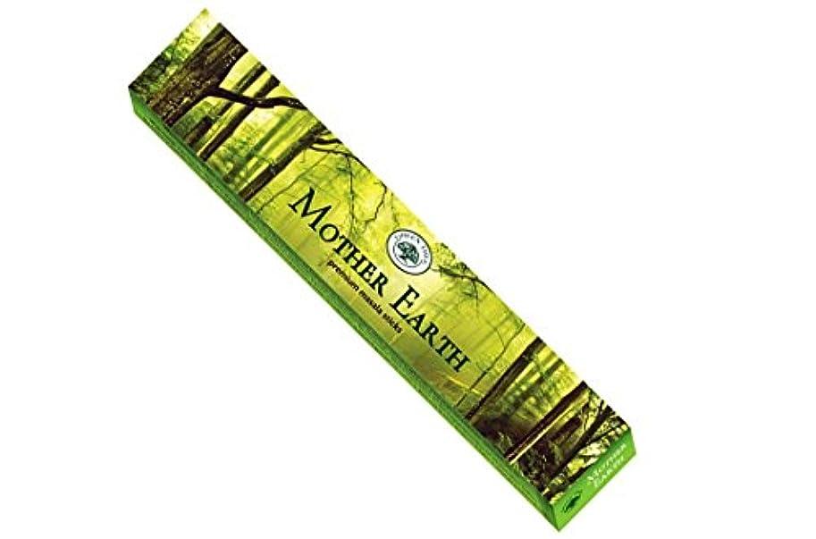 欠席生むスクレーパーグリーンツリーMother Earth Incense Sticks 15 gmボックス