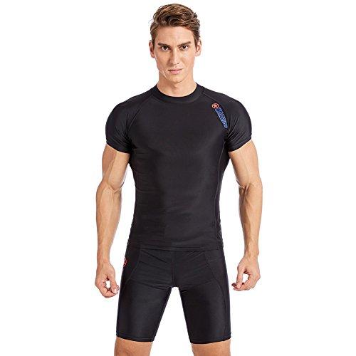 Janjunsi 男性水着 ウェットスーツ サーフィン メンズ 半袖 水泳スーツ 速乾 海 ファション