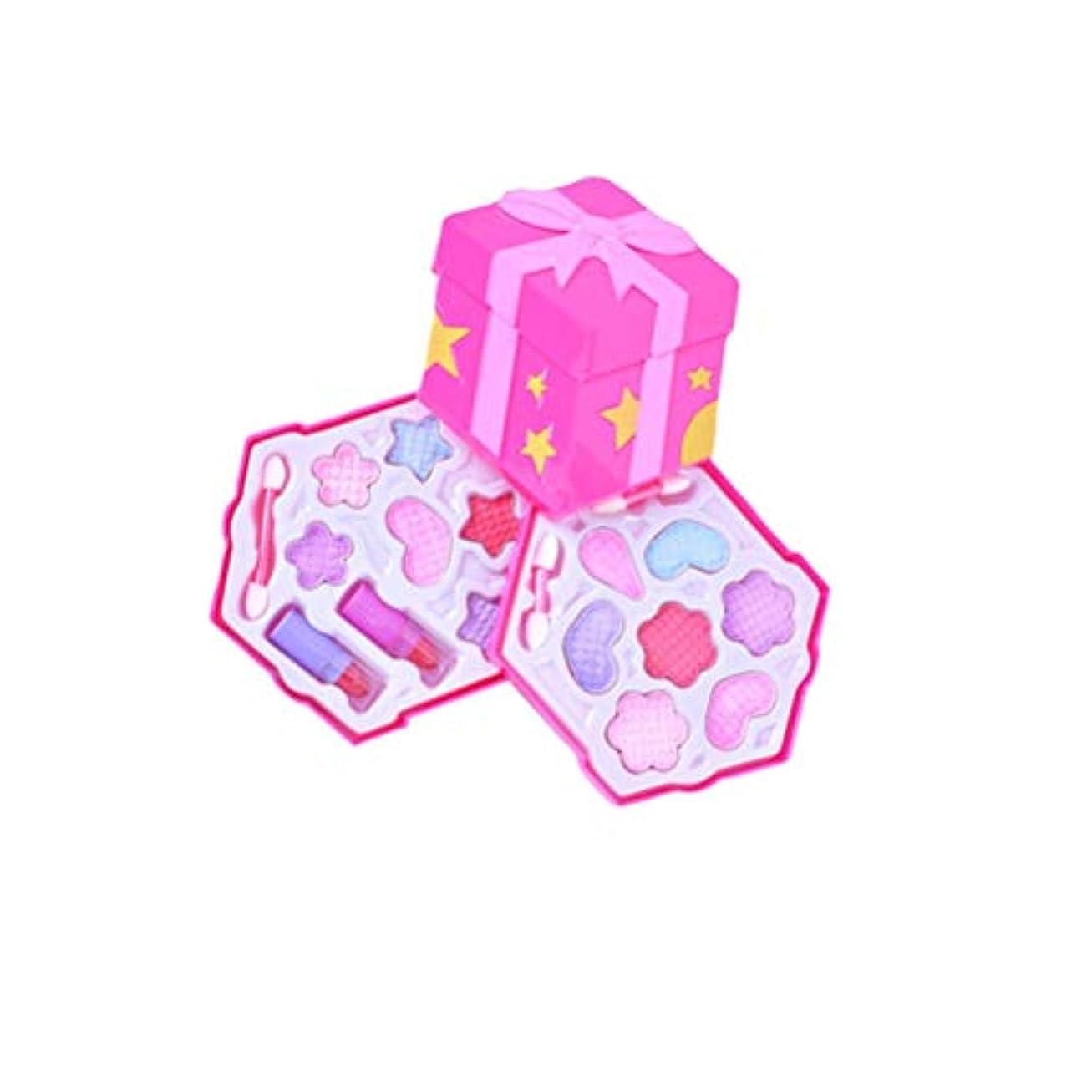 YeahiBaby 女の子化粧品プレイセットウォッシャブル非毒性プリンセスリアルメイクおもちゃキット付きケース