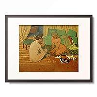 フェリックス・ヴァロットン Felix Edouard Vallotton 「Femmes nues aux chats」 額装アート作品