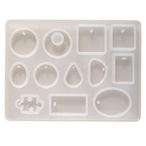 シリコンモールド シリコン型 ドロップ 雫 パーツ レジン アクセサリー 素材 通し穴付タイプ 選べる2種 タイプA 12種類