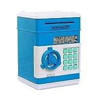 マネーバンク、Netspowerセキュリティ貯金箱デジタル電子マネー銀行、ミニATMコイン貯蓄銀行、コイン貯金箱、おもちゃギフト子供のための誕生日プレゼント - ブルー