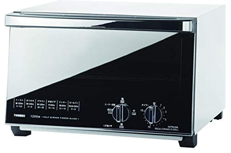 チケット返還複数ツインバード:ミラーガラスオーブントースター(ホワイト)/TS-4047W