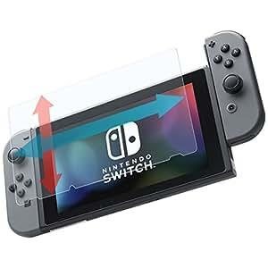 WANLOK 2017 大きめサイズ 改善版 任天堂 Nintendo Switch ニンテンドー スイッチ ガラス フィルム 0.3mm 【実機確認済】 日本板硝子製 日本製 ガラス使用 【国内正規流通品】 Switch 幅広