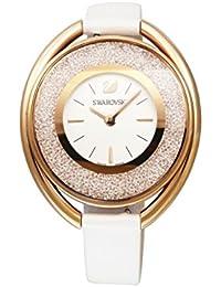 [スワロフスキー]SWAROVSKI 腕時計 クリスタルライン オーバル ホワイト ローズゴールド クォーツ ホワイトストラップ 5230946 レディース 【並行輸入品】