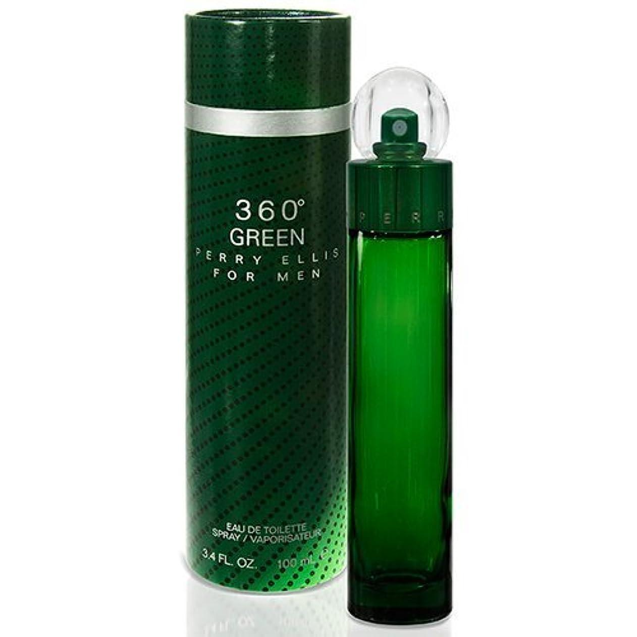 酸学期バドミントンペリーエリス PERRY ELLIS 360°グリーン フォーメン 100ml EDT SP オードトワレスプレー
