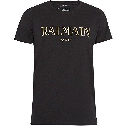 (バルマン) Balmain メンズ トップス Tシャツ Logo-print cotton T-shirt 並行輸入品