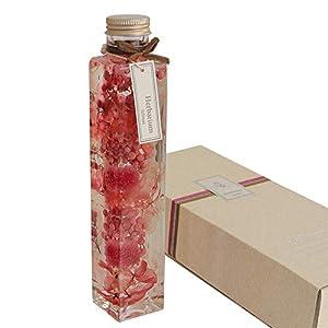 フェリナス ハーバリウム 角瓶(1本) ピンク系 直径40mm(対面) 高さ215mm