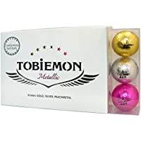 TOBIEMON(トビエモン) 飛衛門 ゴルフボール キラキラメタルボール 公認球 12球(1ダース) FLYGADR