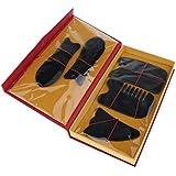 Perfeclan 5本セット マッサージボード スクレイピングマッサージ スクレーパーツール 2色選べ - ブラック